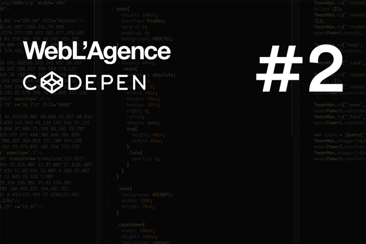 The best of Codepen #3 by WebL'Agence, web agency in Paris